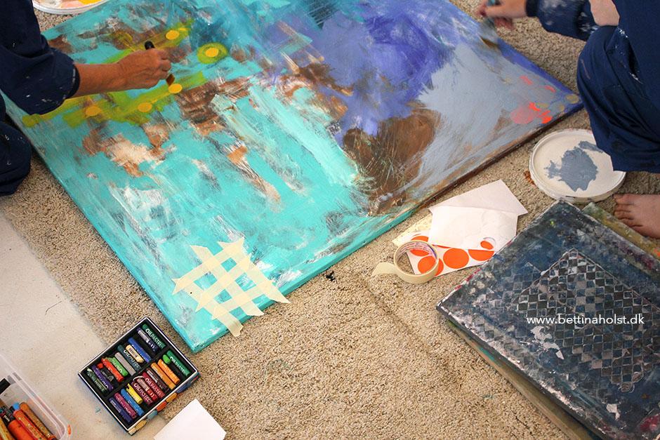 Mor og datter maledag