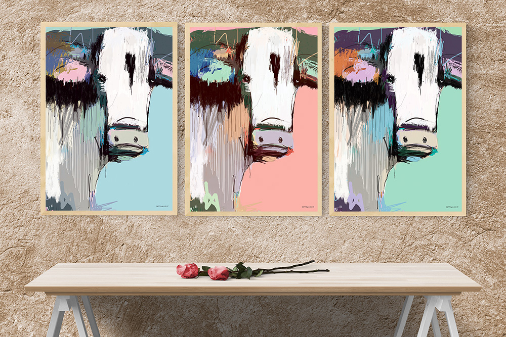 Plakat abstrakt ko