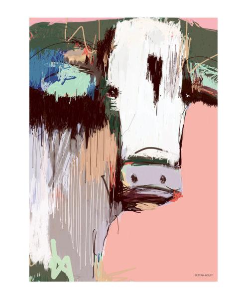 Plakat Abstrakt ko - lyserød