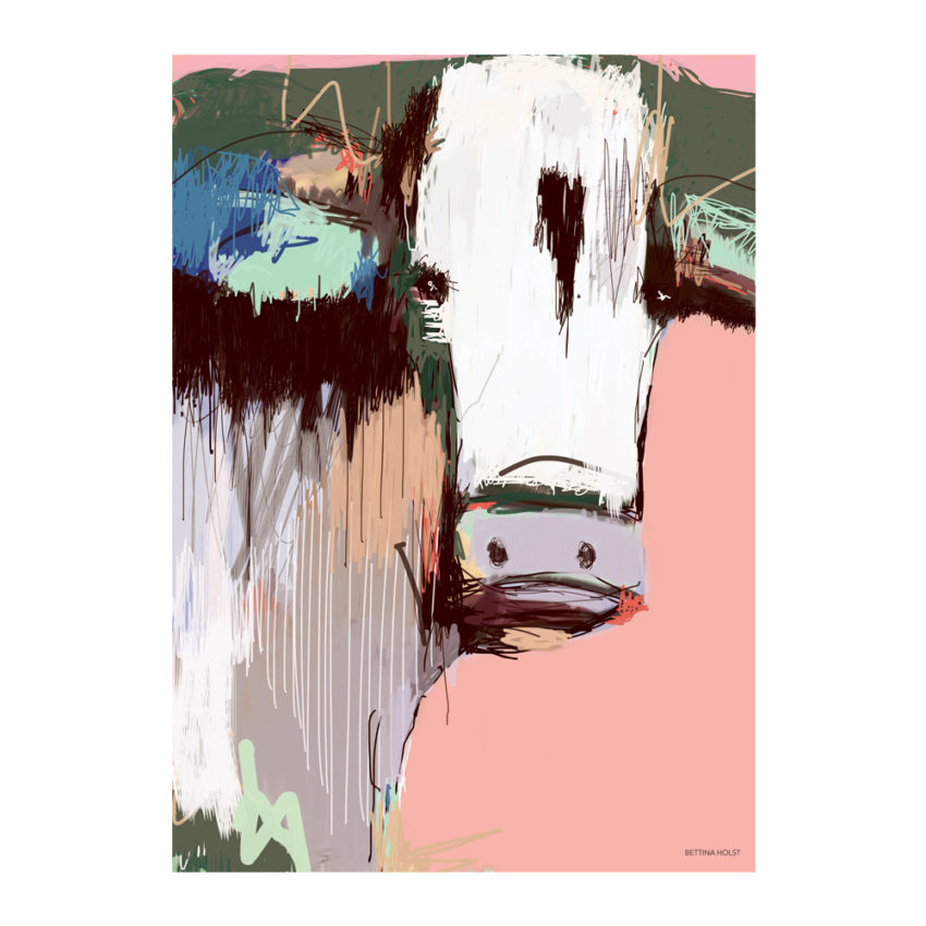 Plakat Abstrakt ko-lyserød