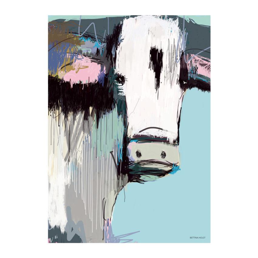 Plakat abstrakt ko - blå