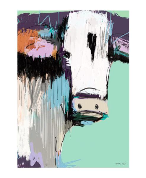 Plakat abstrakt ko - grøn