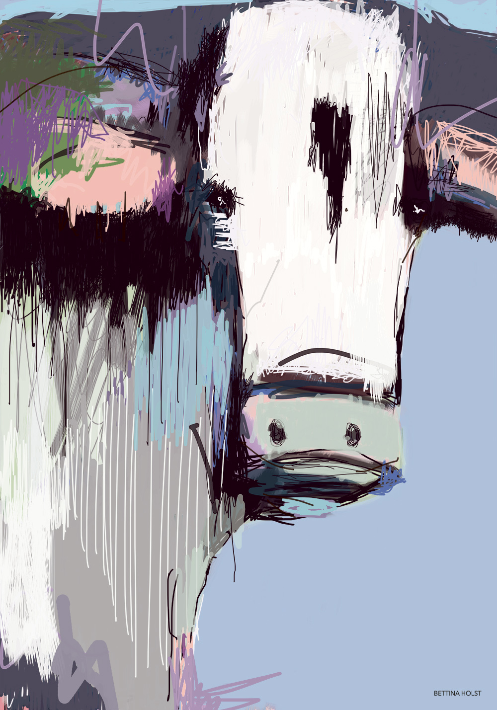 Plakat abstrakt ko – lavendel