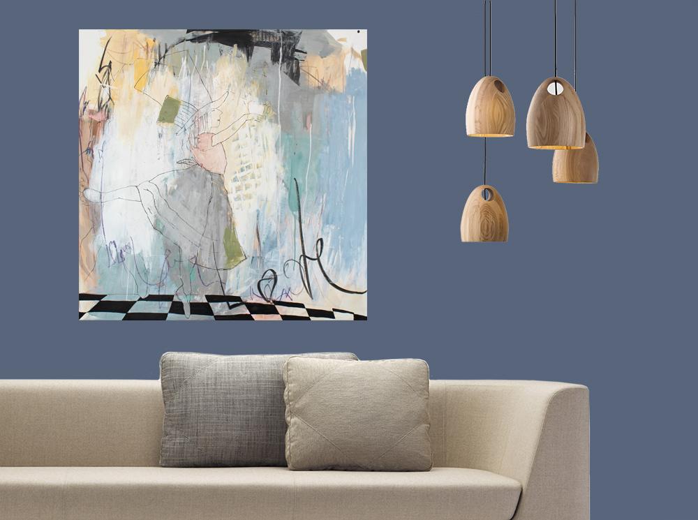Hænger malerier pænest på hvide vægge