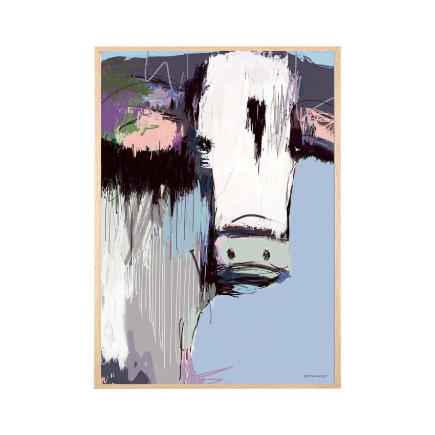 Plakat abstrakt ko – blålilla