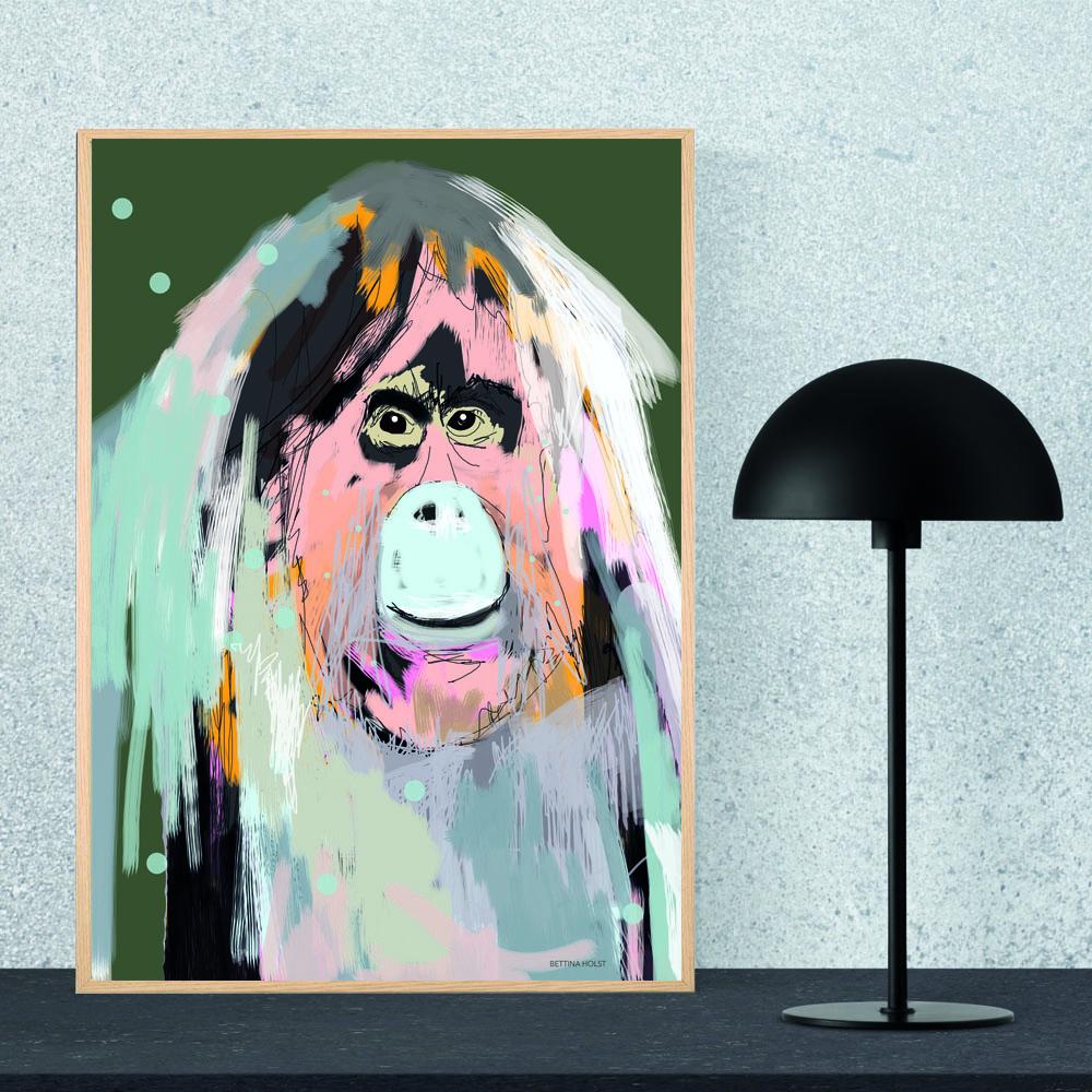 Plakat Orangutang - army