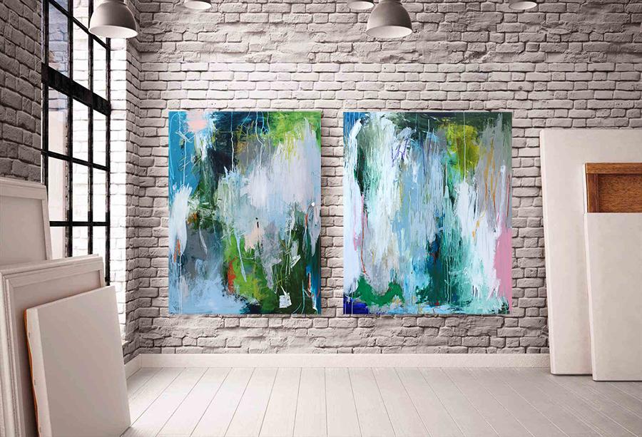 Forside abstrakte malerier